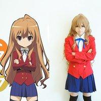 aisaka taiga cosplay - Japan Anime TIGER DRAGON Toradora Aisaka Taiga Cosplay Costume Coat Shirt Skirt Tie