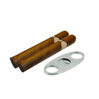Wholesale pc Pocket Stainless Steel Double Blade Cigar Cutter Knife Scissors Shears Brand New