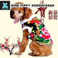 Wholesale 2016 foreign trade festive northeast pet clothing apparel dog jacket dog clothes Teddy clothes Chinese wind