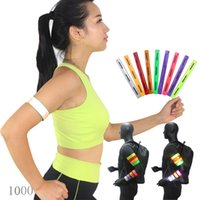 Wholesale Custom pvc reflective slap band wristband armband for sport CM