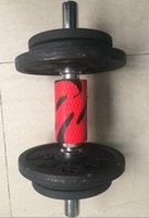 barbell bar sizes - Thick Bar Dumbell Barbell Grip Adaptors For Explosive Power Increased Grip Strength And Size Gains red and black color
