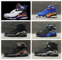 aqua bond - Air Retro Aqua Black Purple Blue Men Basketball shoes retro Phoenix Sun Chrome Playoffs Black Blue Size