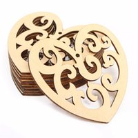 Wholesale 10pcs Love Hearts Shaped Laser Cut Decorative Unfinished Wooden Craft Embellishments Ornaments Toys DIY Wood Craft Decor