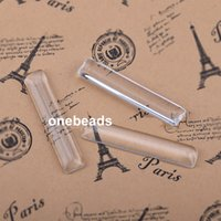 Wholesale 10x50mm Rectangle Flat Back Clear Crystal Glass Cabochon Cameo Jewelry Finding Clear Glass Thickness mm K2973