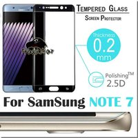 Wholesale For Note Full Cover Tempered Glass Film mm D H For Samsung S7 S6 edge plus With RetailBox