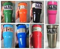 Wholesale Colorful Yeti oz oz oz Rambler Tumbler Bilayer Stainless Steel Insulation Cup OZ Cups Cars Beer Mug Large Capacity Mug Tumblerful