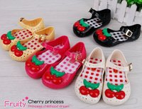 Wholesale 2016 new Melissa jelly shoes Girls cute cherry princess Sandals children Flat Sandal kids Soft bottom shoes girls fragrance sandals