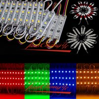 Wholesale 20pcs Waterproof LED Module SMD RGB white Red Green Blue Yellow Sign Design Hard Strip Light Lamp Decorate DC12V