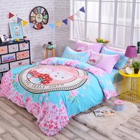 Wholesale The fairy tale new cotton cartoon bedding set three pieces for full size four pieces for queen size machine wash good color fastness