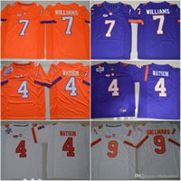 Wholesale 7 Mike Williams DeShaun Watson Artavis Scott Wayne Gallman II New Style Clemson Tigers Limited College Football Stitched Jerseys