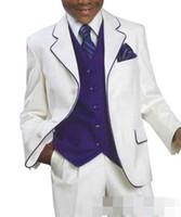 Wholesale Fashion Children Suits for Party Occasion Customized Boy Suits Set Jacket Pants vest tie Boys Dress