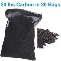 aquarium carbon bags - 20 lbs Activated Carbon in Media Bags for Aquarium Fish Pond Canister Filter