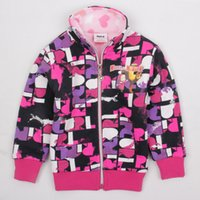 Wholesale New Baby Girls Cartoon snowsuit Kids Winter Clothes long Sleeve Jacket Children Outerwear Cute Hoodies For Girl F3313