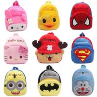 Wholesale New cute kids backpack cartoon plush toy mini schoolbag Children s gifts kindergarten boy girl baby student bags lovely Mochila