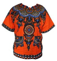 Wholesale fast shipping cotton African Tranditional Print Dashiki Dress African Women Men Fashion Design Dashiki Clothing