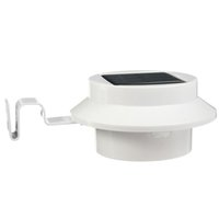 Wholesale Best Promotion LED Energy Saving Outdoor Solar Power Garden Wall Yard Roof Fence Light Gutter Lamp Pure White
