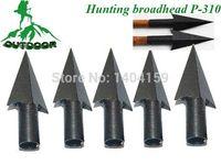 Wholesale Free freight mm diameter wooden arrow Metal Broadheads Grains good shaped hunting arrowhead tip