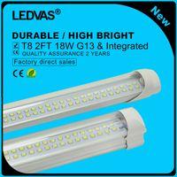 Wholesale LEDVAS Pack W T8 LED Tube Double Strips Integrated led Lights Lamps Bulbs mm m Ft AC85 V LM Led Lighting