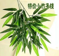 bamboo display - Diy Planting Garden Grtificial Plants Wedding Party Home Decoration Artificial bamboo Leaf with Stem Fake Silk Plants Home Decoration Gift
