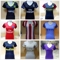 Wholesale 2016 Dybala Women Juventus Jersey Football Shirts Girls Manchester Ronaldo Messi Madrid Chelsea Pairs Barce Milan lady PsG Soccer Jerseys