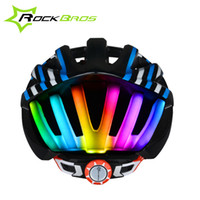 Wholesale ROCKBROS Cycling Helmet Ultralight Bicycle Helmet With Tail Light In mold MTB Bike Helmet Casco Ciclismo Road Mountain Helmet Style