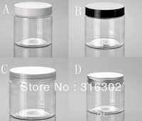 Wholesale DIY g Clear Cream Jar g PET jar cosmetic container cosmetic packaging Clear mask jar with aluminum cap