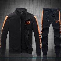 Wholesale Hot Sell New Brand Men s EA Tracksuits Sport Long Sleeve Jacket Men Sweatshirt Male GA Mens Suit Pants