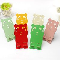 Wholesale High Quality Multicolor Cute Wood Cartoon Cute Panda Cellphone Stand Holder universal for iPhone for Samsung for all Smart Phone