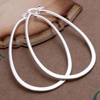 amethyst hoop earrings - E001 Low Price Silver Plated Fashion Jewelry Oval Hoop Earrings Ear Studs
