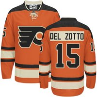 best del - Customized Philadelphia Flyers Mens Jerseys Michael Del Zotto Orange Ice Hockey Jersey Name Number All Stitched Best Quality
