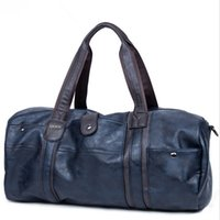Wholesale PU Travel Bags High Quality Soft Large Duffel Bags Waterproof Mens Handbags for Business Travel Brown Blue Black P700002