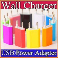 Wholesale DHL AC Power A US EU Plug USB Wall Travel Charger Adapter Mutil color for G GS S S Plus C SC