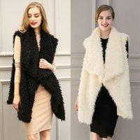 Wholesale Spot real shot European fashion faux fur vest color all match Qiu dongkuan waistcoat Camisole