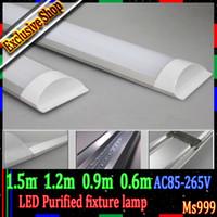 Wholesale 2ft ft ft ft AC85 V LED Panel Lights LED purified light LED batten light led flat light replace integrated LED T8 T5 tube