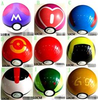 Wholesale 9 styles Action Anime Figures cm pikachu figure PokeBall Fairy Ball Super Ball poke Ball Kids Toys Gift best