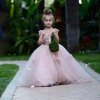 Cheap Applique flower girl dress Best Tulle Floor-Length First communion dresses