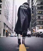 Wholesale Fall New Outdoor Vetements Raincoat Mens Jackets Thin Material Extended Mens Jacket with Hoodie Oversized Black Yellow G dragon