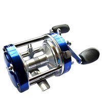 Wholesale free delivery Full Metal CL40 Horizontal round BB Boat Fishing wheel Drum Type fish reel Boat rod Fishing reels