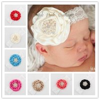 ba photography - 2016 Infant Flower Pearl Headbands Girl Lace Headwear Kids Baby Photography Props NewBorn Lace Hair Accessories Baby Hair ba ff007