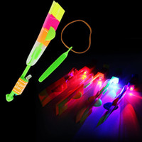 5-7 Years amazing sales - LED Amazing flying arrows helicopter fly arrow umbrella Kids Toys Gifts Hot Sale