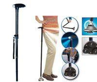 Wholesale Trusty Cane Ultra light LED Handle Dependable Folding cane walking stick with Built in Light Walking Cane TV Magic Foldable Cane for Elder