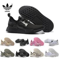 basketball shoe brands - Original adidas NMD Runner Running shoes For Women Men Ultra Grey Eur Sport Runners Sneakers Trainers Brand Casual Cheap