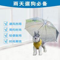 Wholesale Pet Products Rain Walk Dog Necessary Iron Chain Transparent Umbrella Hot