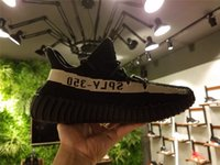 Wholesale DHL fast Shipping Kanye West Boost V2 BY1604 Black White Running Shoes Sports Shoes Top Quality