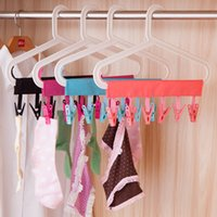 Wholesale Travel Laundry Drying Clothespins Clips for Drip dryTurn the Hanger into a Clothesline