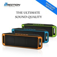 Wholesale Brection S208 Super Bass Sound Bluetooth Speaker Portable Wireless Stereo Subwoofer TF USB FM Radio Built in Mic Dual