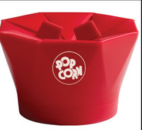 Wholesale Golive New Arrival Popcorn Maker Bowl Food Grade Silicon With Foldable Edge Microwave Oven Bowls Red Color Healthy Eating Bowl
