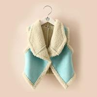 Wholesale New autumn winter fur girl vest fashion children s clothing for girls wool warmer cardigan