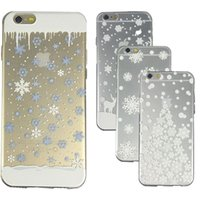 beautiful snowflakes - Beautiful Christmas Snowflake White Tree Clear Transparent Printed Soft TPU Case Cover For iPhone S S Plus iphone S SE