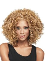 Wholesale 2016 Latest Best quality Short Curly wigs Synthetic Ladys Hair Wig Fashion Style New Stylish Short curly hair cap Wig for women